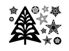 Silikónové pečiatky - 11ks - Vianoce