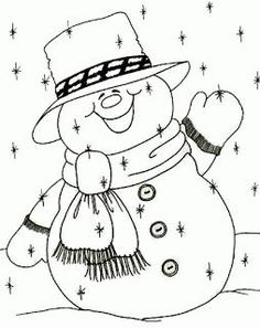 Awesome Most Popular Embroidery Patterns Ideas. Most Popular Embroidery Patterns Ideas. Christmas Coloring Pages, Coloring Book Pages, Christmas Colors, Christmas Snowman, Christmas Embroidery, Hand Embroidery, Theme Noel, Christmas Drawing, Arts And Crafts