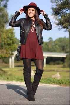 "BURGUNDY - As first seen on blog ""Anouckinha's Closet"" here: BURGUNDY She is…"