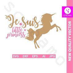 JE SUIS little PRINCESS svg svg cut files clipart vector