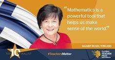 Suomalainen matematiikanopettaja Maarit Rossi on päässyt kymmenen finalistin joukkoon, joka tavoittelee miljoonan dollarin eli noin 900000 euron opetuspalkintoa.