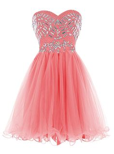 Tideclothes Women's Sweetheart Homecoming Dress Short Party Dress with Beads | Amazon.com