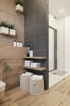 in holzoptik 22 Best Modern Bathroom Tile Inspirations For Your Beautiful Bathroom Bad Inspiration, Bathroom Inspiration, Bathroom Ideas, Modern Bathroom Tile, Bathroom Interior, Warm Tiles, Toilet Storage, Guest Bathrooms, Beautiful Bathrooms