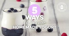 Making homemade yogurt is easy, flavoring it is even easier! Try these yogurt flavoring ideas to give your homemade yogurt a kick!