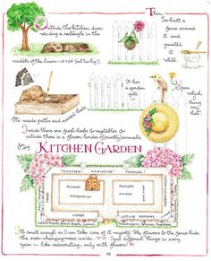 Susan Branch…my favorites are the teenytiny watercolors with bold graphic messages…. Susan Branch Blog, Branch Art, Potager Garden, Plan Potager, Garden Journal, Garden Beds, Garden Gate, Dream Garden, Garden Planning