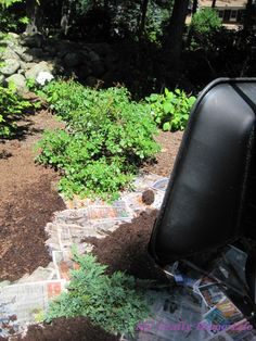 How to use newspaper and mulch to nurture the garden and kill weeds, without pulling them.