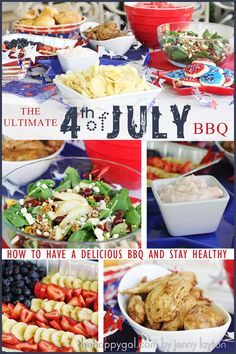 Celebrate the 4th of July with this unbelievable BBQ menu that is delicious AND healthy! www.TheHappyGal.com #BBQ #4thofJuly #healthyrecipes