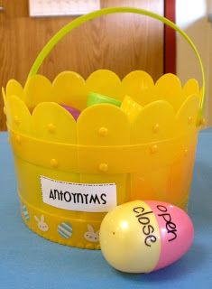 Rowdy in First Grade: Five Egg-cellent Ideas with plastic eggs!