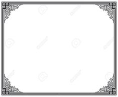 nice Free Art Deco Border Template at Creative Free Art Deco Border Template To Furniture Art Deco Design Ideas Border Templates, Frame Template, Vector Border, Art Deco Borders, Borders For Paper, Art Deco Decor, Art Deco Design, Decoration, Black And White Painting