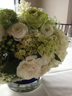 Navy and Green Wedding- flowers!