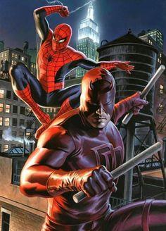 Spider-Man & Daredevil By Felipe Massafera