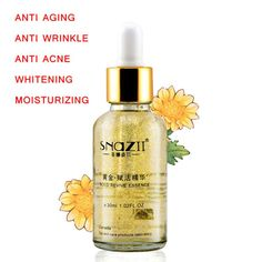 24 K זהב להחיות סופר אנטי אייג 'ינג נגד קמטים לטיפול בעור פנים טיפול הלבנת אקנה לחות מהות נוזל להסרת