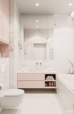 Banheiros escandinavos por PRØJEKTYW | Architektura Wnętrz & Design