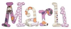 Wood-Wall-Letters-Painted-to-Match-Jacana-by-CoCaLo-Monkey-Purple-Jungle-Bedding