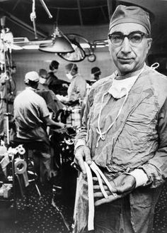 Michael DeBakey (1908-2008) although best known to most medical students for his forceps, pioneered many techniques in cardiovascular surgery - including the repair of aortic dissections, the carotid endarterectomy and cardiac bypass surgery. He worked until the day he died at 99 years of age.