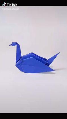 Origami Ship, Instruções Origami, Origami Videos, Origami Fish, Origami Folding, Paper Crafts Origami, Origami Design, Origami Diagrams, Cool Paper Crafts