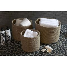 Handwoven Soft Round Jute Basket | @ The Holding Company