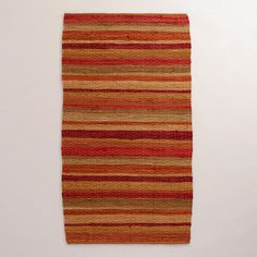 My new rug- may get more One of my favorite discoveries at WorldMarket.com: Safari Warm Stripe Rug
