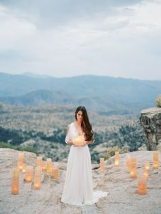 Monochromatic Desert Wedding Shoot