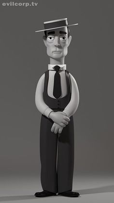 Buster Keaton Vinyl Idols by Evil Corp - Evilcorp. Funko Vinyl, Vinyl Toys, Vinyl Art, 3d Character, Character Design, Design 3d, Fritz Lang, Arte Obscura, Modelos 3d