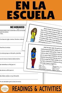 33 Spanish 1 Unit 3 School Ideas Spanish 1 School Spanish