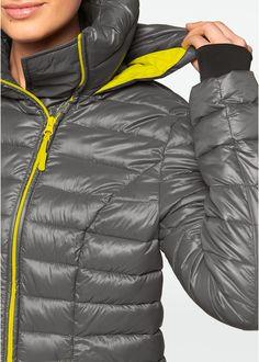 86b1cef097 Commandez maintenant Veste longue outdoor à capuche escamotable gris ardoise /vert citron - bpc bonprix