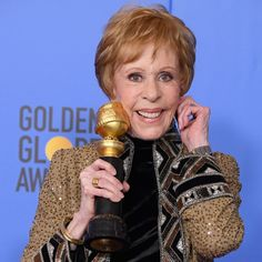 Carol Burnett at the Golden Globes 2019 Golden Globe Award, Golden Globes, Carol Burnett, Let Them Talk, American Actress, Comedians, Celebrity News, Dancer, Writer