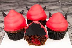 Devil's Food Cake Halloween Cupcakes