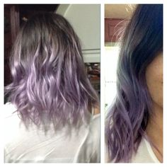 I use the ombre hairstyle since 2010 in all colors and lengths of hair, this was today (March 1st 2014) my tousled hairstyle in ombre lavender with my natural hair color (dark brown).  If anyone has a suggestion about a new and cool hairstyle or hair color or both, I will appreciate. ^_^