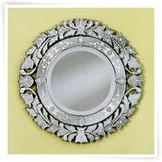 Medium La Roa Venetian Wall Mirror - 31 diam. in.