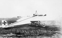 Morane-Saulnier G single-seat scout-fighter monoplane. Picture shows an aircraft captured by Germans with German insignia. FRENCH AIRCRAFT OF THE FIRST WORLD WAR