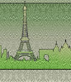 Paris Painting - Poster Art of Paris - My work consists of interesting moving and flowing patterns that my imagination organized! Some stand alone. Some I offer in many every day objects--making the usual unusual! See below for choices of wall art products, then choose your selection from the top right drop down menu.  ALL PRICES INCLUDE SHIPPING - Ready to ship in approximately 1 week from my printing partner in Denver, CO with my digital signature, except the 8x10 prints which ship in 1-3…