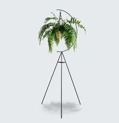 MODERN TIMES - Capra Plant Stand $145 see: http://capradesigns.com/plantstands/crescent