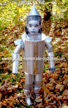 Homemade Tin Man Halloween Costume: Each year since my son was born I try to think about a great costume for him at Halloween. Last year he was a Oompa Loompa. He was awesome. This year I