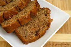 Whole Wheat Cinnamon Banana Bread: My go-to banana bread recipe...filled with walnuts and cinnamon spice!