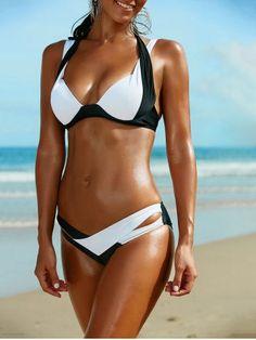 GET $50 NOW   Join RoseGal: Get YOUR $50 NOW!http://m.rosegal.com/bikinis/spaghetti-strap-color-block-criss-cross-bikini-set-597322.html?seid=6802786rg597322