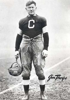 Perhaps the greatest athlete of the 20th century, Jim Thorpe. An Olympian and professional athlete without peer.