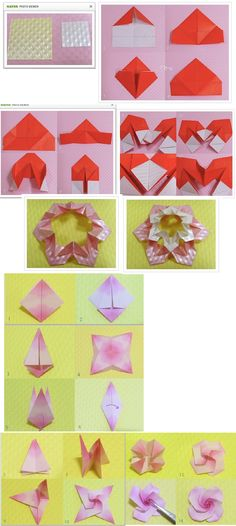 Modular rose-topped decoration http://sjrenoir.com/50010575677 sjrenoir.com/50010575677 http://sjrenoir.com/50010702064 sjrenoir.com/50010702064 Need glue. Ea wreath needs 6 papers. Bottom layer 5 cm, top 3 cm, rose 5 cm Also see https://aspiringfolder.wordpress.com/2011/10/08/origami-rose-ornament/ aspiringfolder.wordpress.com/2011/10/08/origami-rose-ornament/