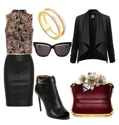 """Untitled #201"" by giselaturca on Polyvore featuring Joseph, Givenchy, Glamorous, Monica Vinader, Christian Dior, Jimmy Choo, women's clothing, women, female and woman"