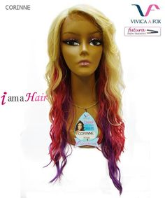 Vivica Fox Lace Wig CORINNE - Futura Synthetic Deeep Lace Front Wig - Shown Color : SC1335
