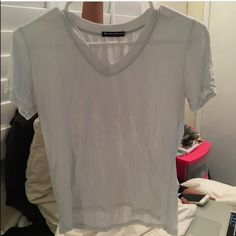 Brandy Melville cropped tee shirt Super soft brand new without tags light blue crop top tee Brandy Melville Tops Crop Tops