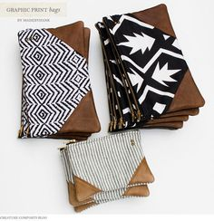 These pouches are so cute... I could totally do this... i'd put a loop on it though so it could work like a wrist clutch. Adorbs, though.