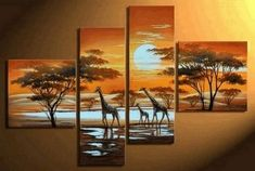 African Painting, Abstract Art, Sunset Painting, Extra Large Painting, Living Room Wall Art, Modern Art, Extra Large Wall Art, Contemporary Art, Modern Art Painting