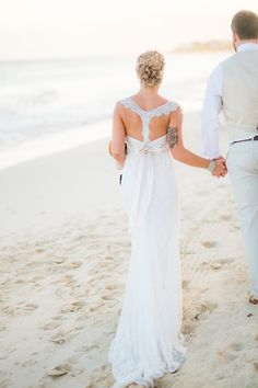 Nicole & Chris' Destination Wedding in Cancun - Dress by Anna Campbell from Lovely NYC - Photos by Dean Sanderson