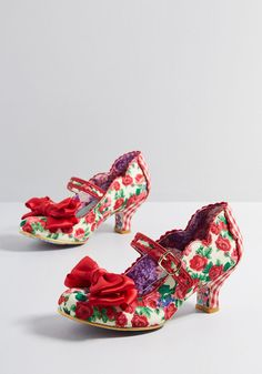 huge selection of 26455 9ac2e Famed Gait Mary Jane Heel in 36 by Irregular Choice from ModCloth Bow Tops,  Irregular
