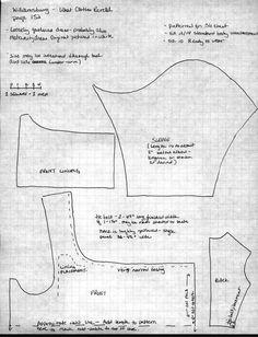Pattern for a Regency Gown: