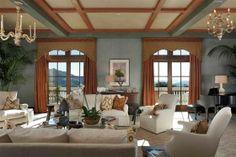 Robin Williams Napa Valley Home - living room
