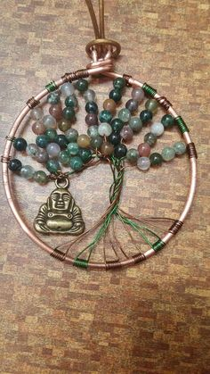 Beaded Tree of Life with Buddha by WyrdOfYggdrasil on Etsy