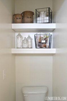 DIY Floating Bathroom Shelves