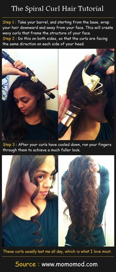 Beauty Tutorials: The Spiral Curl Hair Tutorial